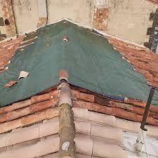 Bâchage fuite toiture